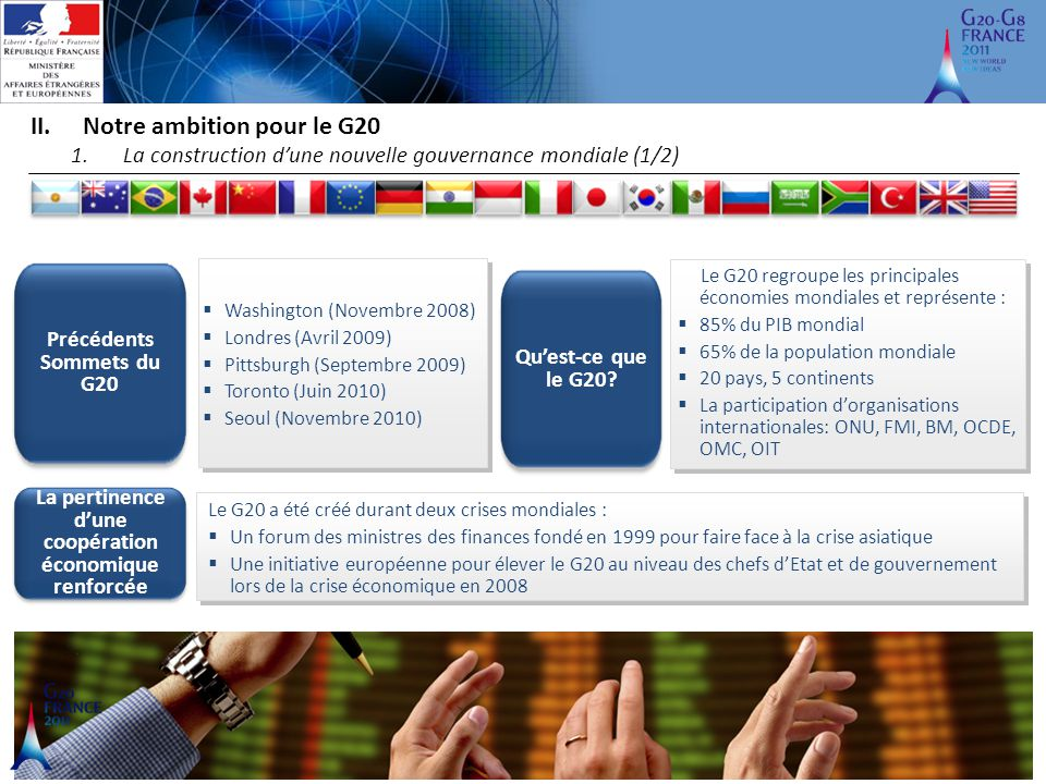 Notre ambition pour le G20