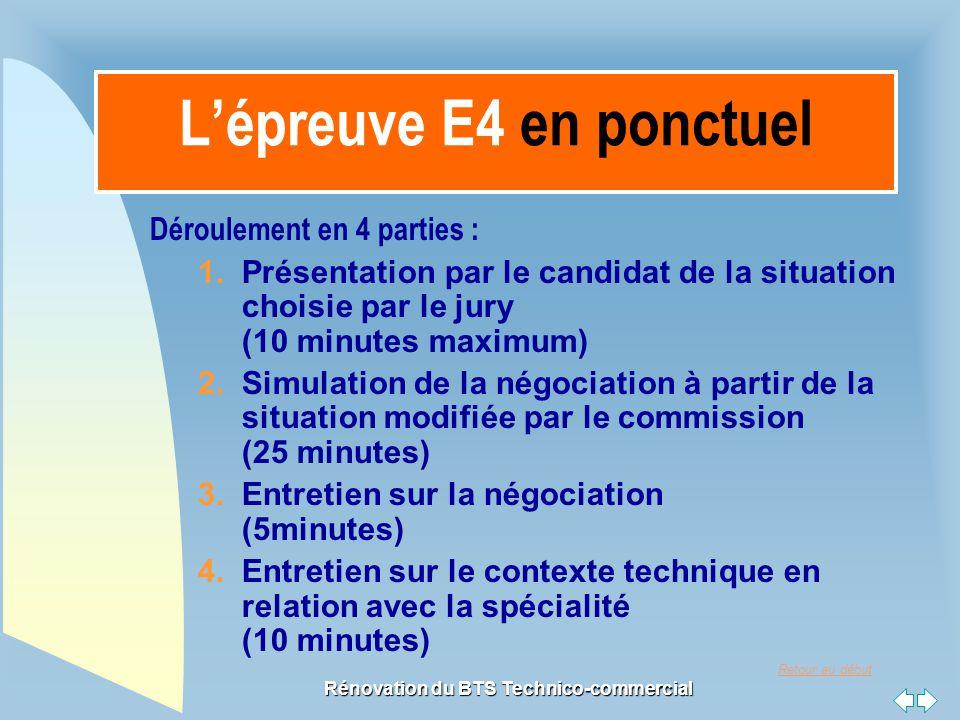 L'épreuve E4 en ponctuel