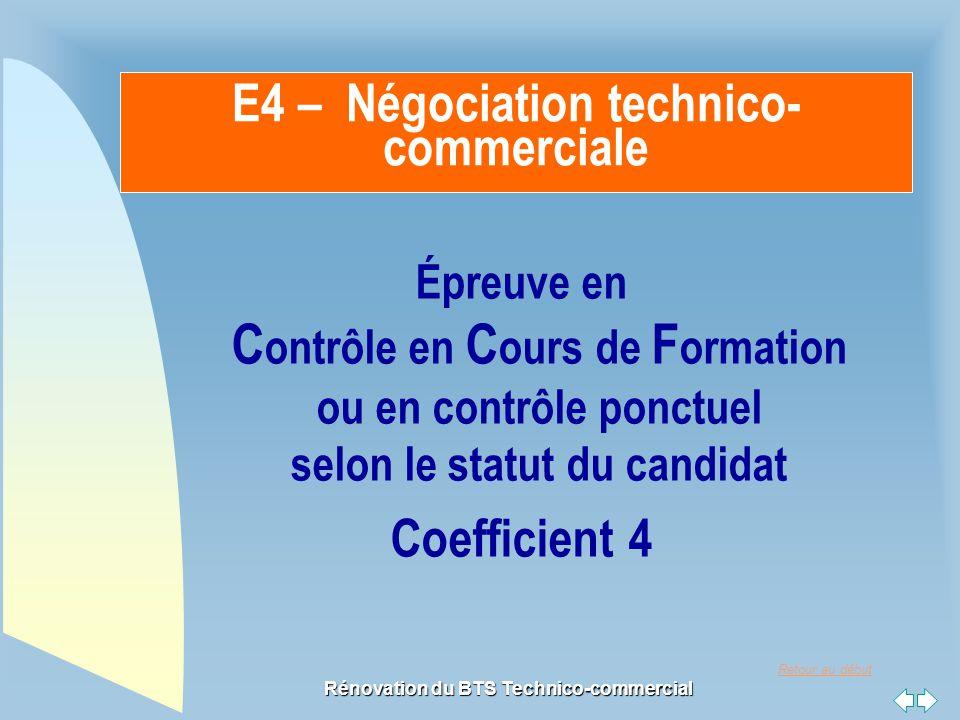 E4 – Négociation technico-commerciale