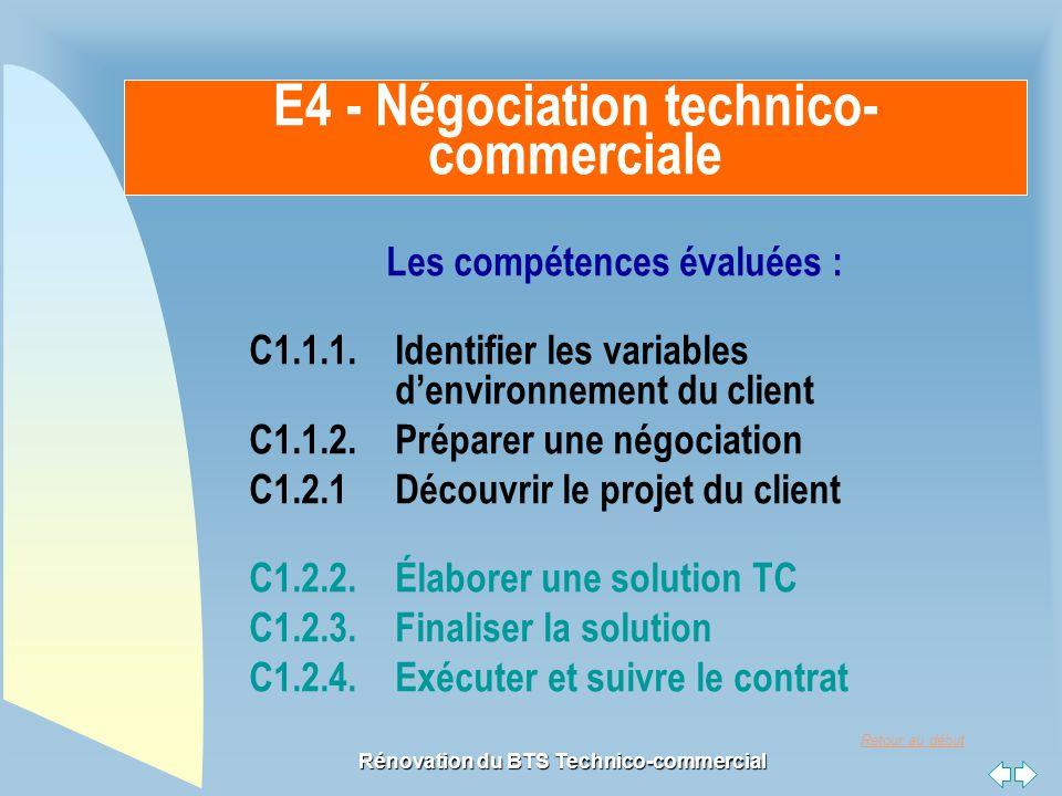 E4 - Négociation technico-commerciale
