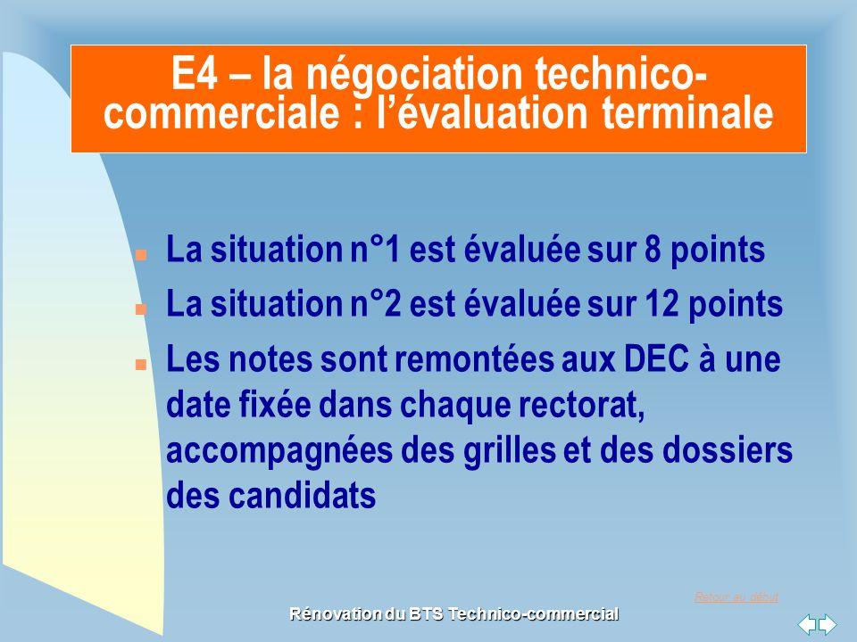 E4 – la négociation technico-commerciale : l'évaluation terminale