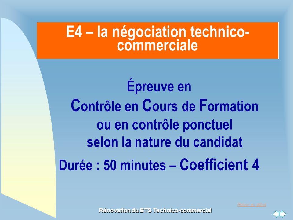 E4 – la négociation technico-commerciale