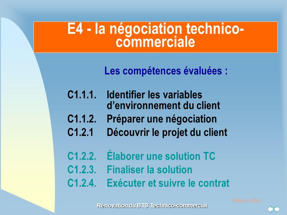 E4 - la négociation technico-commerciale