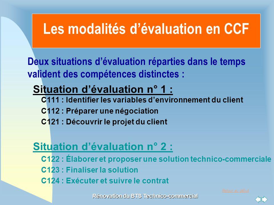 Les modalités d'évaluation en CCF