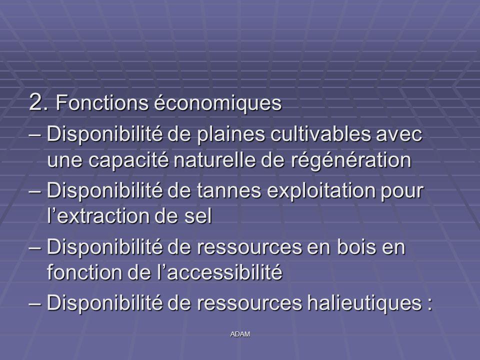 2. Fonctions économiques