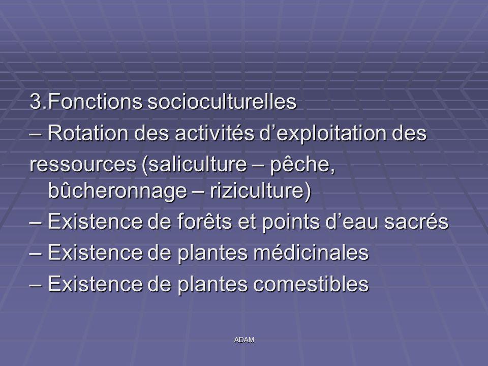 3.Fonctions socioculturelles