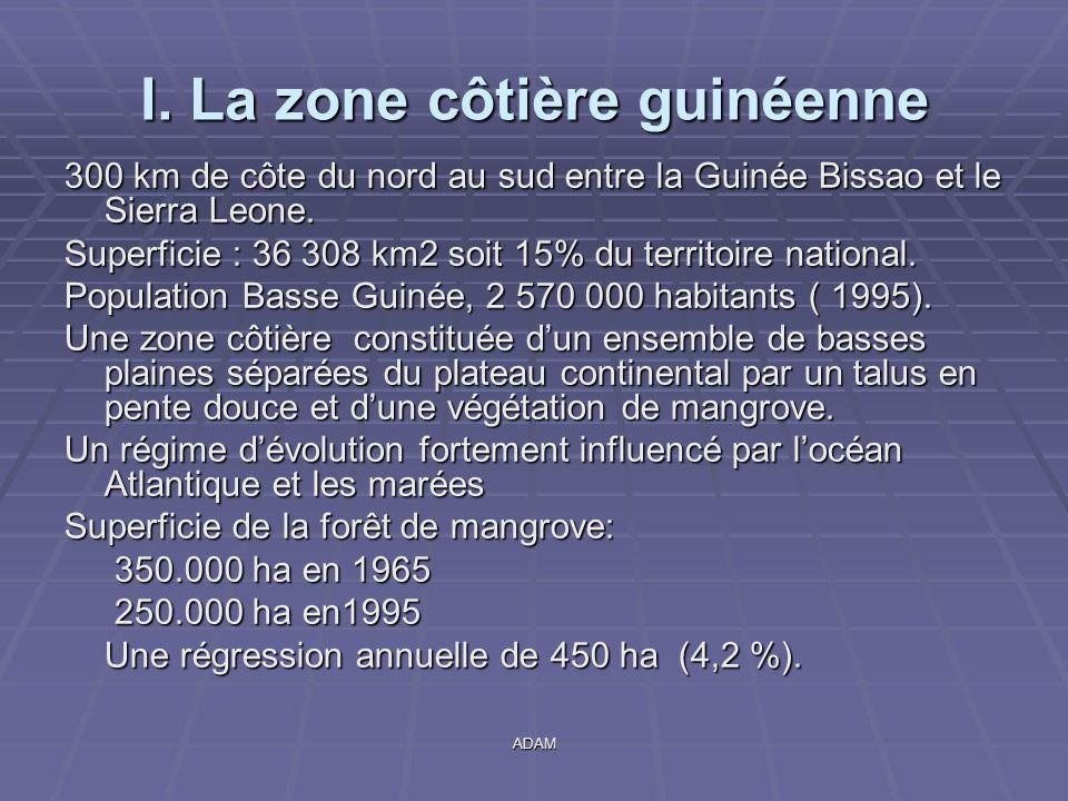 I. La zone côtière guinéenne