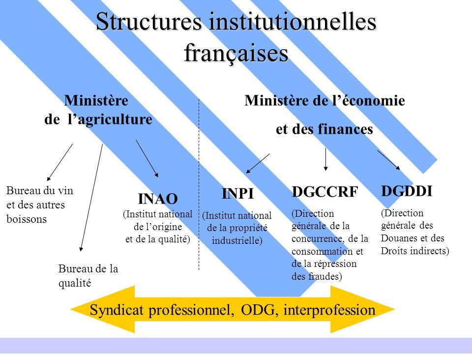 Structures institutionnelles françaises