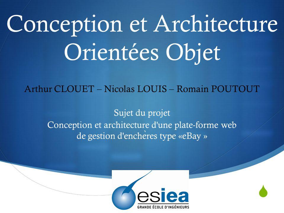 Conception et Architecture Orientées Objet