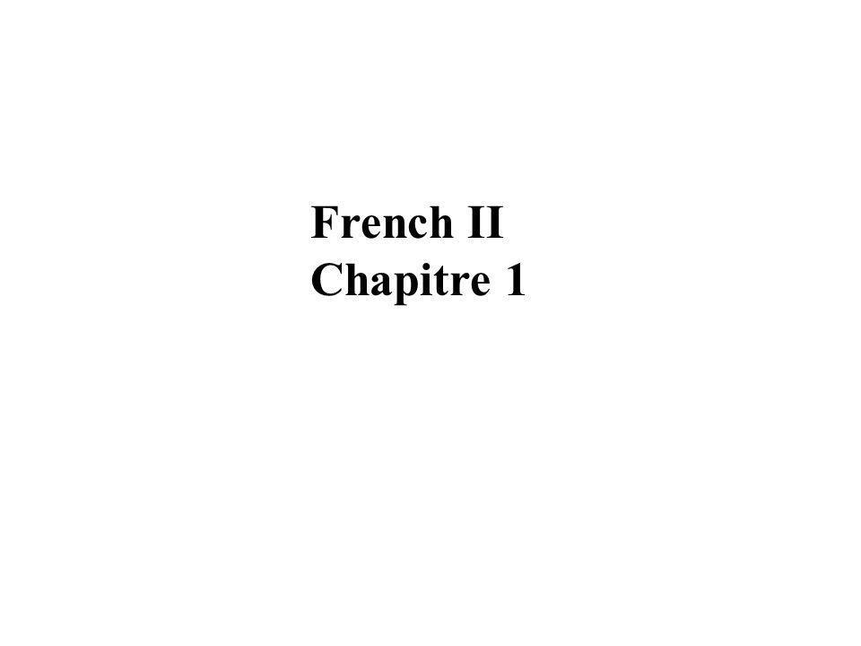French II Chapitre 1