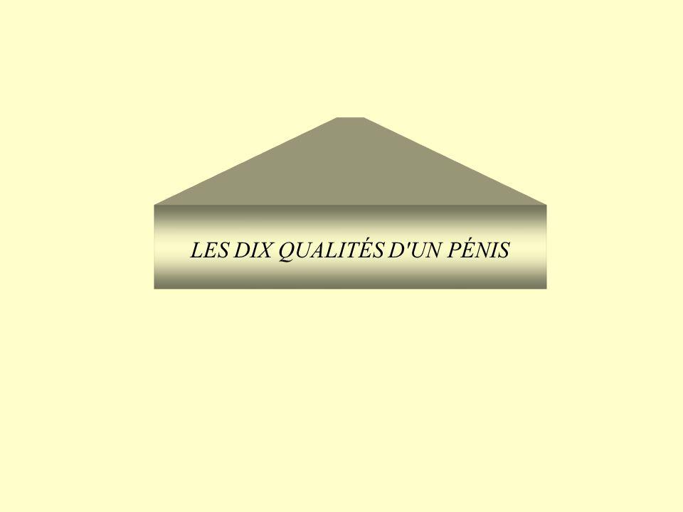 LES DIX QUALITÉS D UN PÉNIS