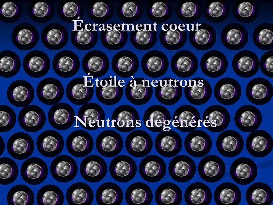 Étoile à neutrons Neutrons dégénérés
