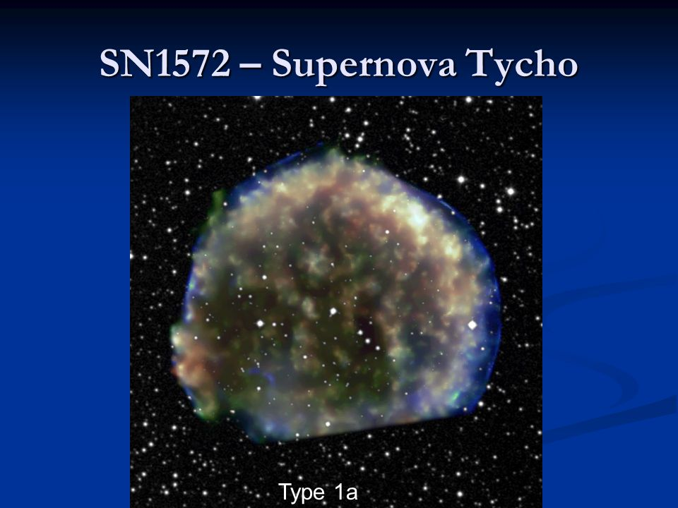 SN1572 – Supernova Tycho Type 1a