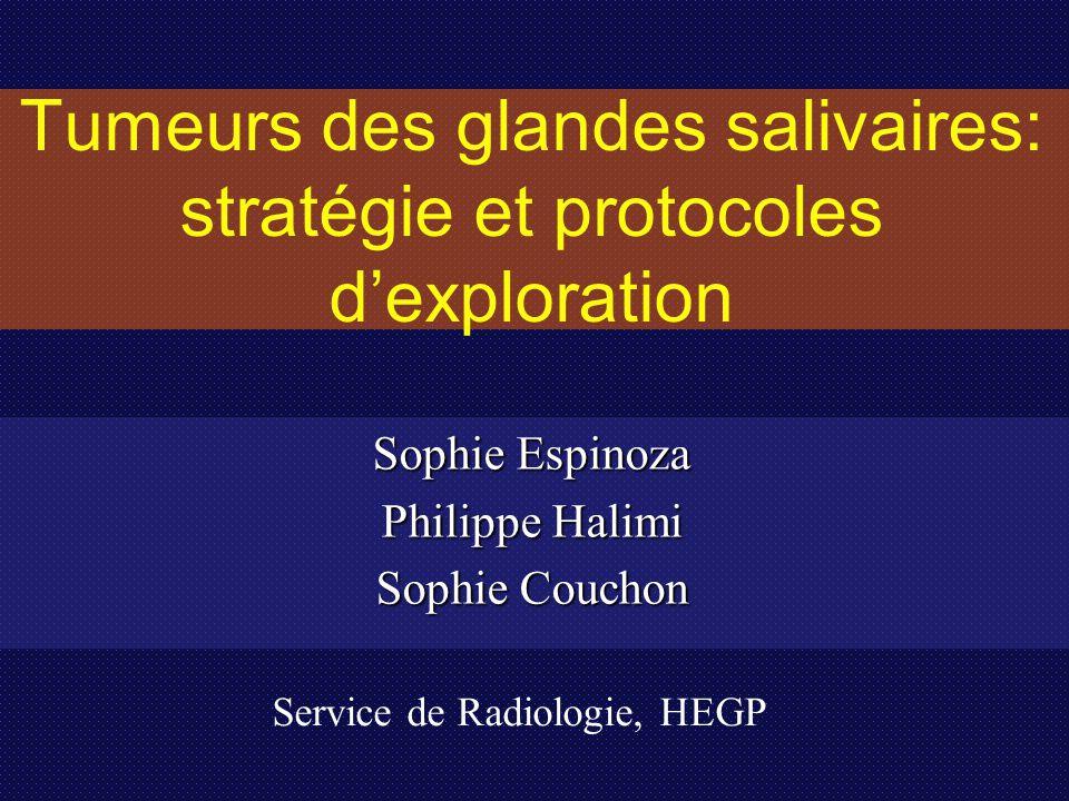 Tumeurs des glandes salivaires: stratégie et protocoles d'exploration