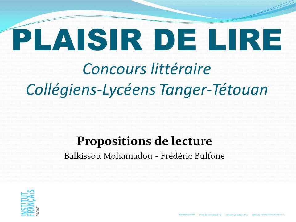 PLAISIR DE LIRE Concours littéraire Collégiens-Lycéens Tanger-Tétouan