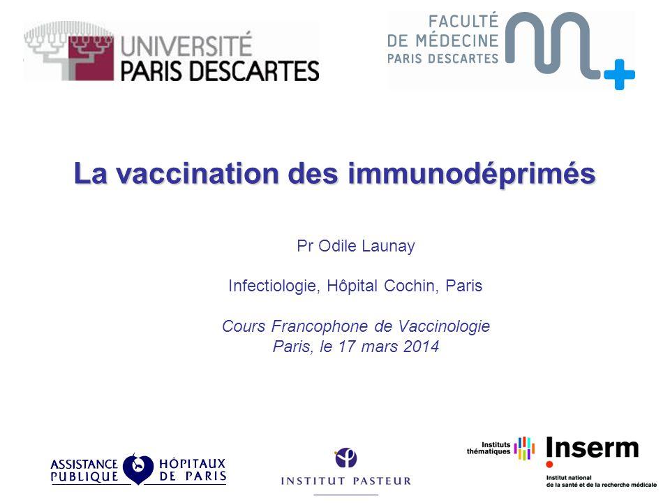 La vaccination des immunodéprimés