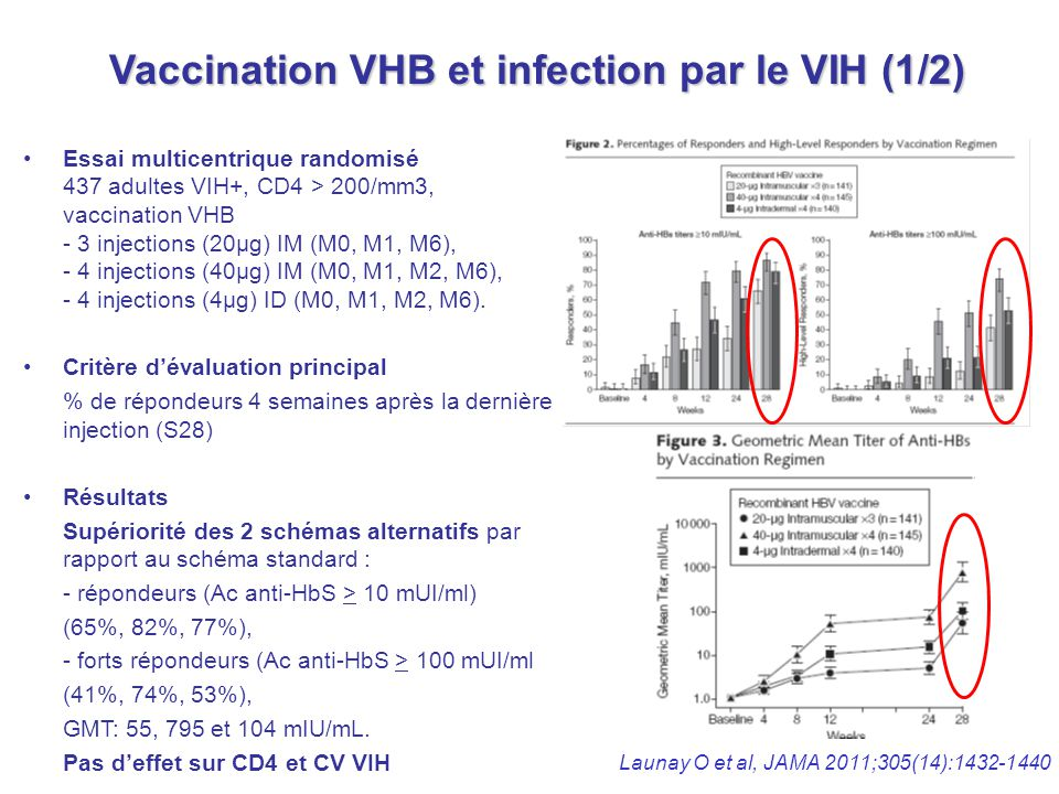 Vaccination VHB et infection par le VIH (1/2)
