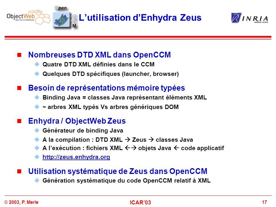 L'utilisation d'Enhydra Zeus