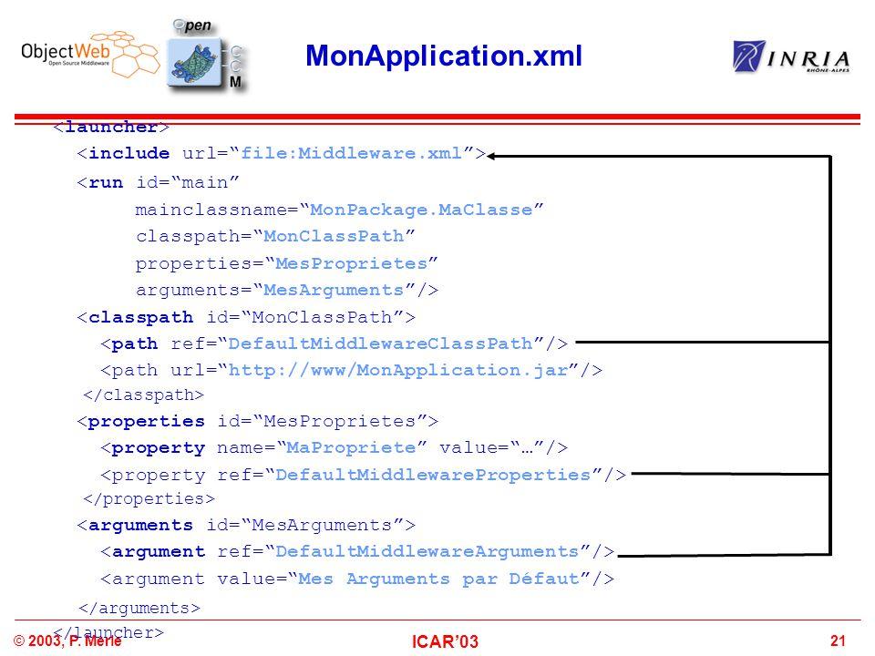 MonApplication.xml </arguments> <launcher>