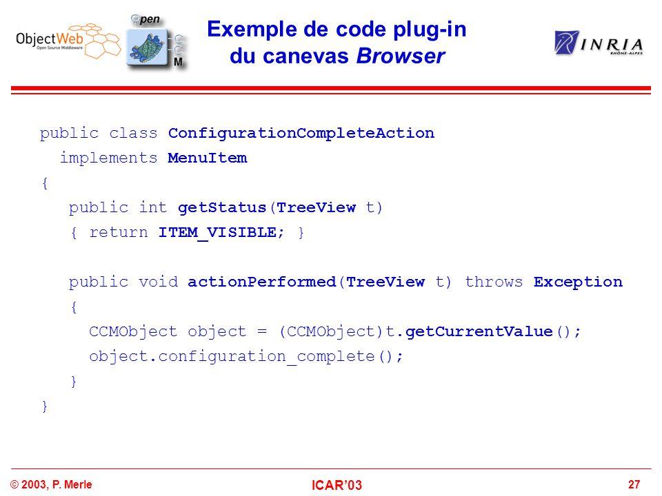 Exemple de code plug-in du canevas Browser