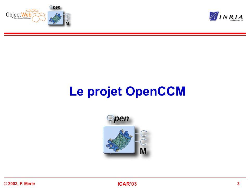 Le projet OpenCCM
