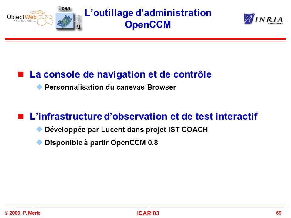 L'outillage d'administration OpenCCM
