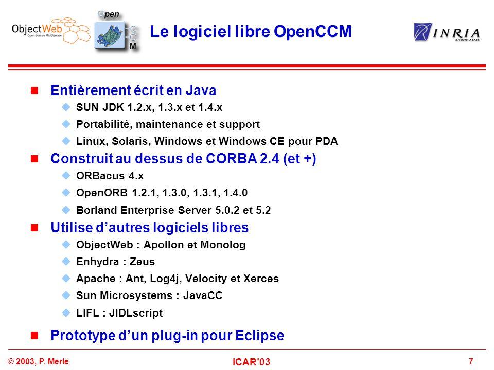Le logiciel libre OpenCCM