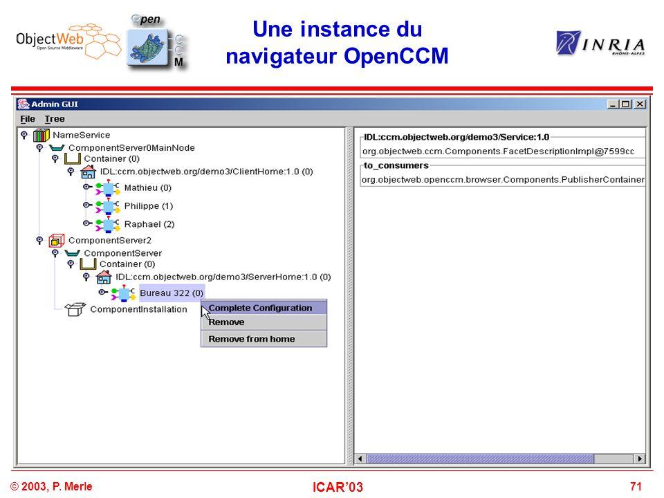 Une instance du navigateur OpenCCM