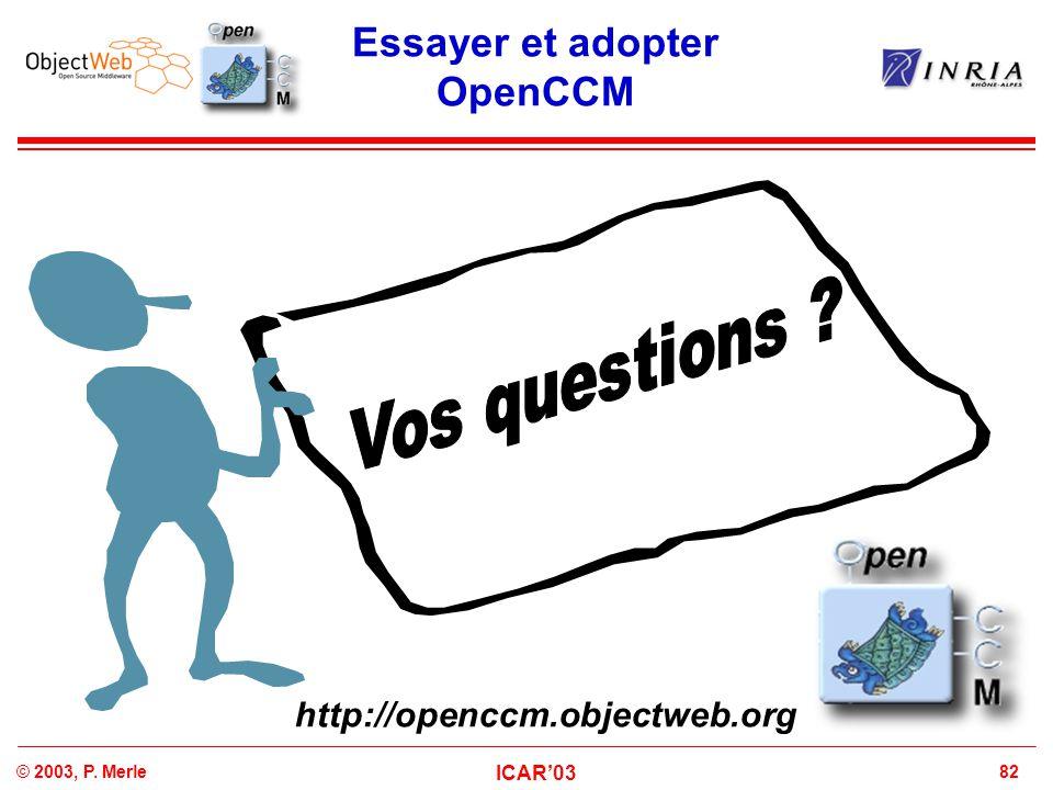 Essayer et adopter OpenCCM
