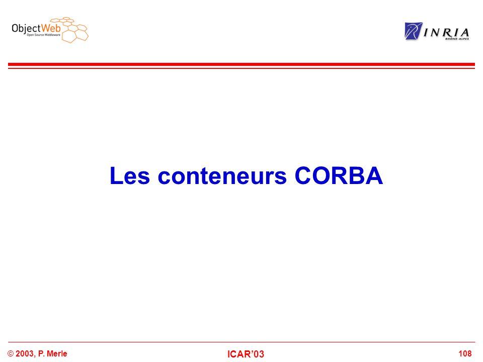 Les conteneurs CORBA