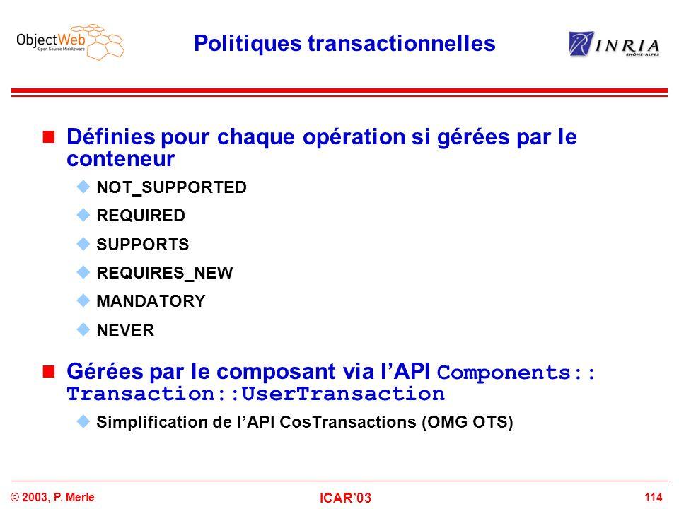 Politiques transactionnelles