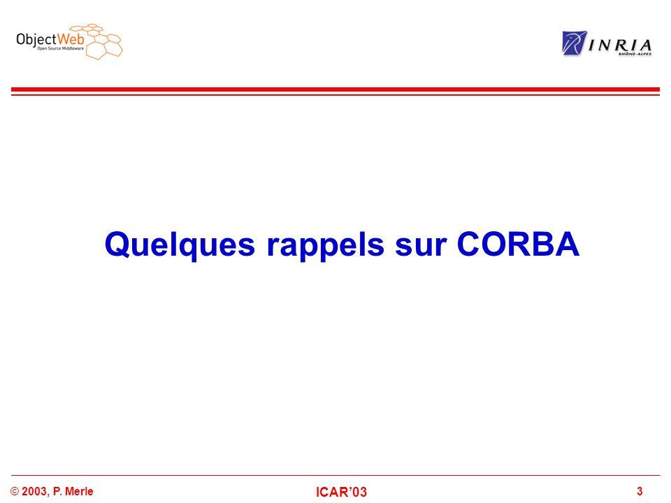 Quelques rappels sur CORBA
