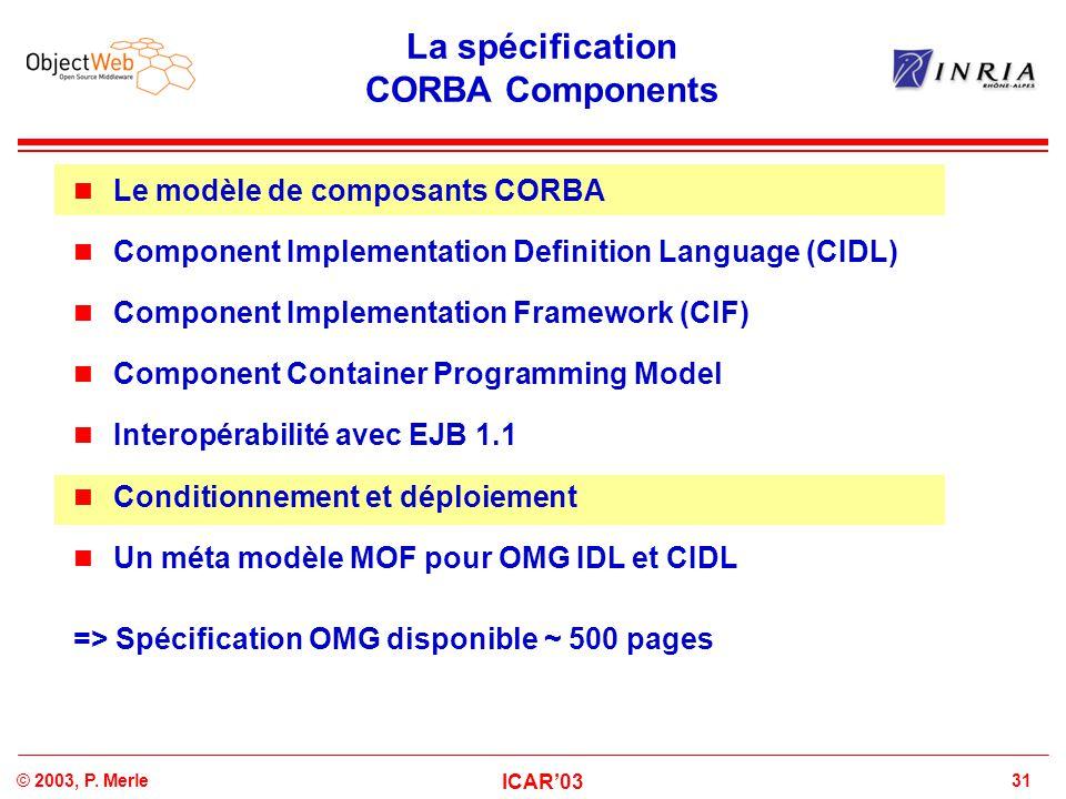 La spécification CORBA Components