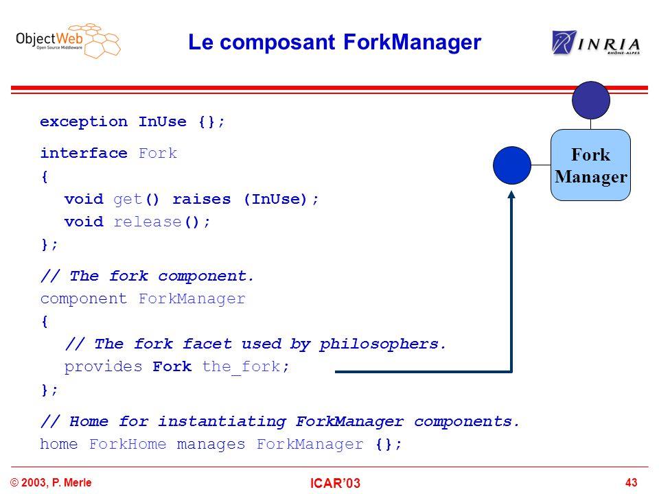 Le composant ForkManager