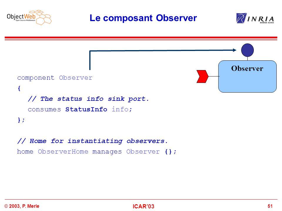 Le composant Observer Observer component Observer {
