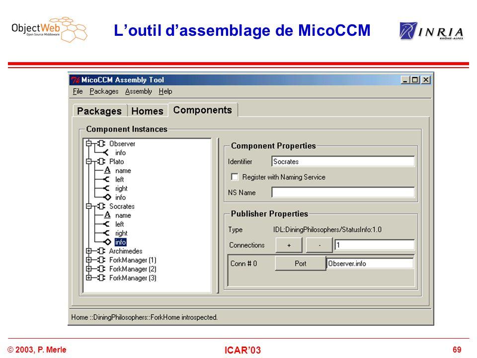 L'outil d'assemblage de MicoCCM