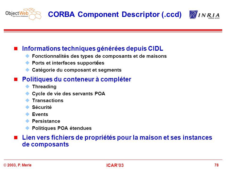CORBA Component Descriptor (.ccd)