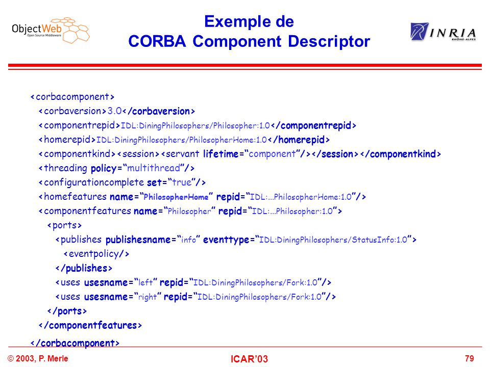 Exemple de CORBA Component Descriptor