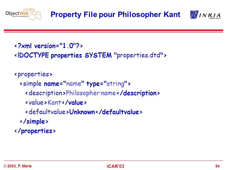 Property File pour Philosopher Kant