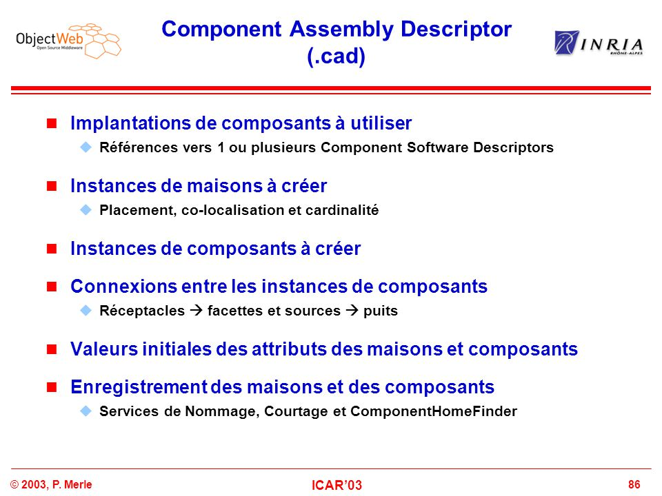 Component Assembly Descriptor (.cad)