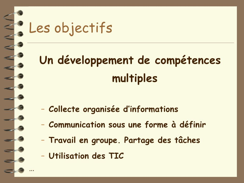 Un développement de compétences multiples