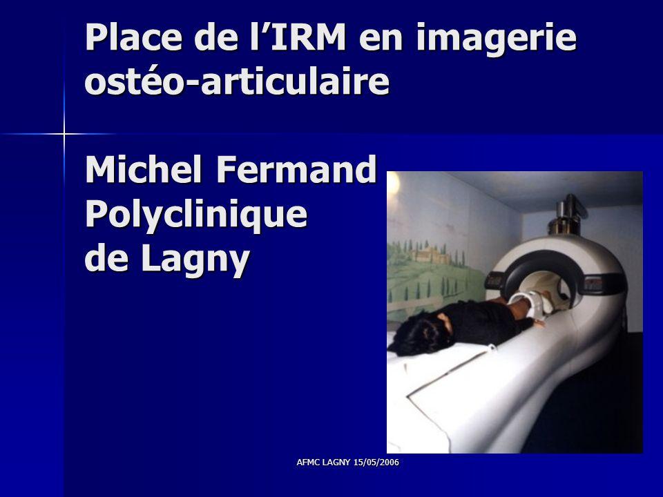 Place de l'IRM en imagerie ostéo-articulaire Michel Fermand Polyclinique de Lagny