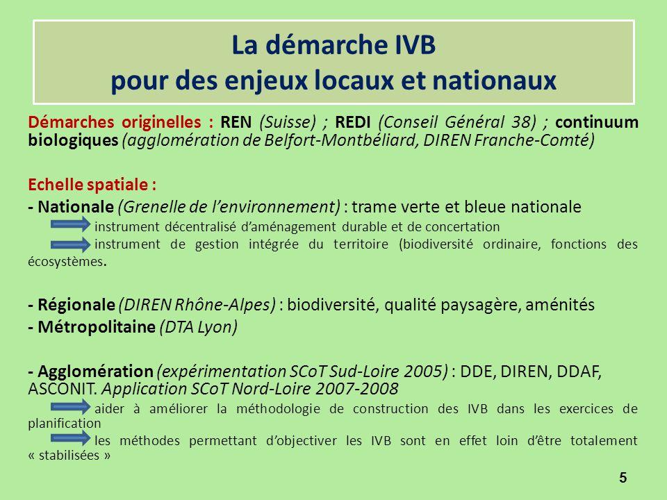 La démarche IVB pour des enjeux locaux et nationaux