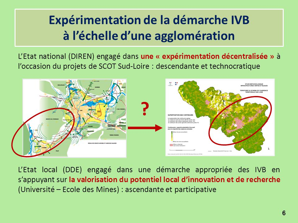 Expérimentation de la démarche IVB à l'échelle d'une agglomération