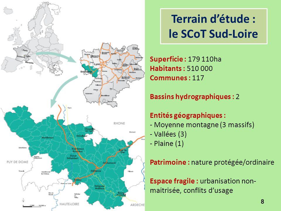 Terrain d'étude : le SCoT Sud-Loire
