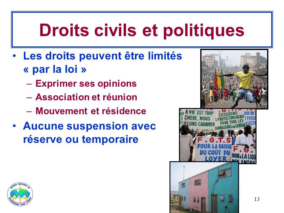 Droits civils et politiques