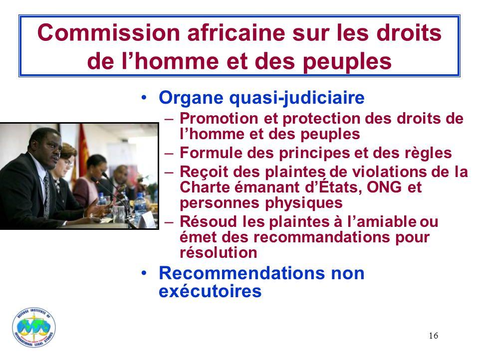 Commission africaine sur les droits de l'homme et des peuples