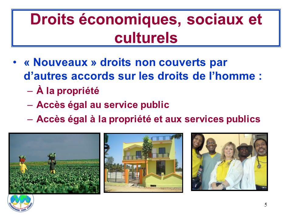 Droits économiques, sociaux et culturels