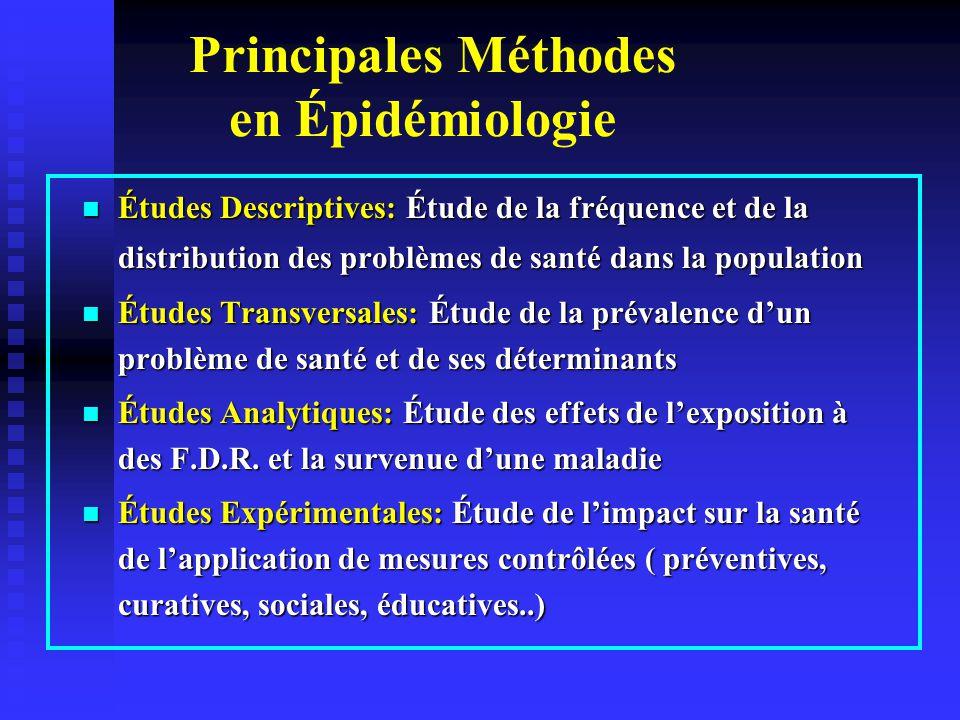 Principales Méthodes en Épidémiologie