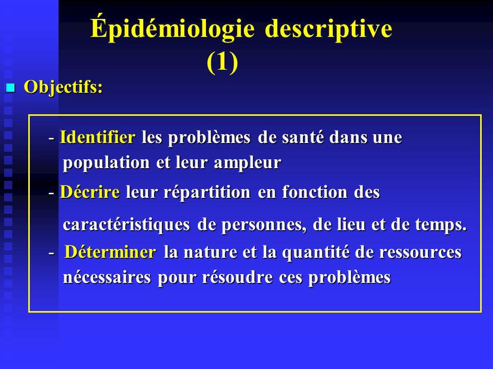 Épidémiologie descriptive (1)